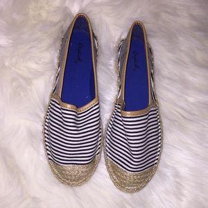 Qupid striped espadrilles loafer